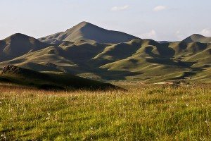 Tibetan grasslands near Langmusi in Sichuan China