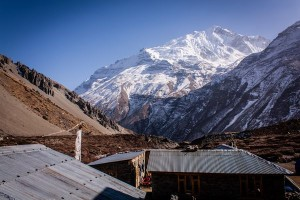 Tilicho Lake basecamp on Annapurna Circuit in Nepal